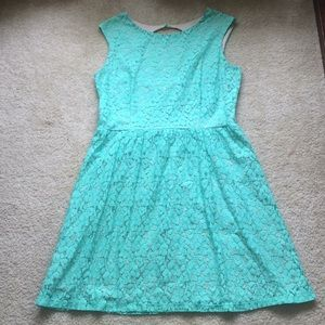 Enfocus Studio Mint Lace Dress